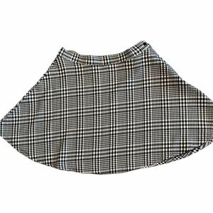 American Apparel black & white tweed skirt medium